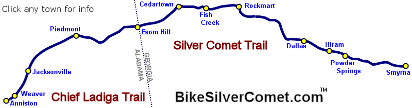 Siver Comet and Chief Ladiga Trails
